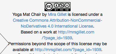 cc licence yoga mat chair